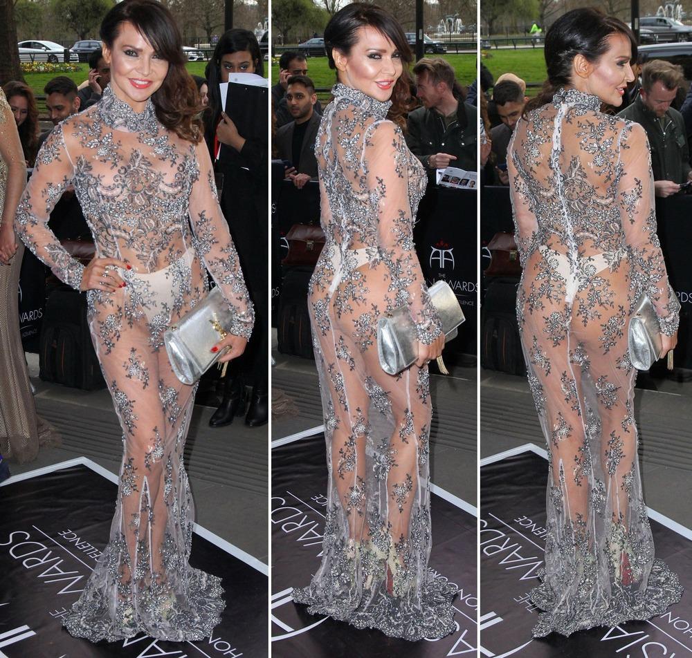 Лиззи Канди в просвечивающемся платье