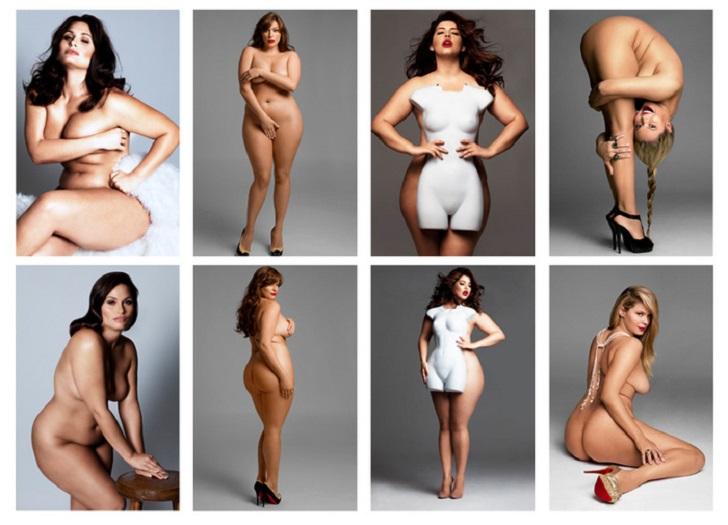 Крупные дамы в фотокниге «Изгибы»