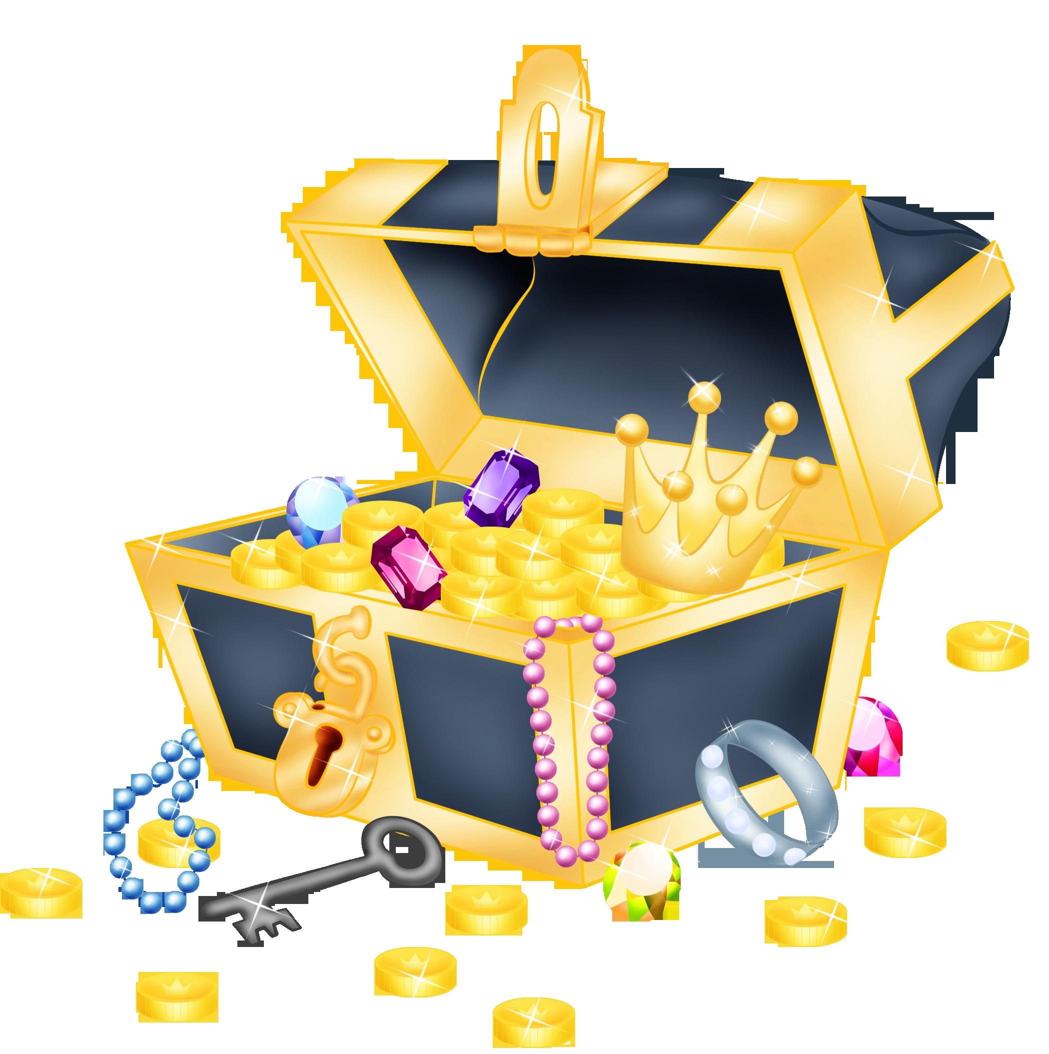 Картинка с сокровищами, днем рождения