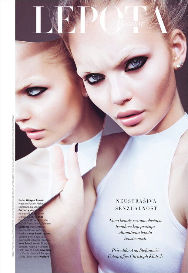 The gorgeous Marlen Nohl stars in Fearless Sensuality beauty story captured for the September 2015 i