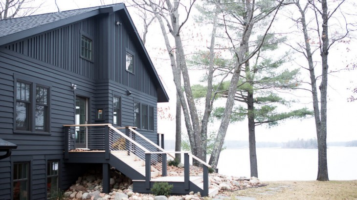 A cabin in Western Wisconsin is transformed from within to become a serene and modern retreat. In a