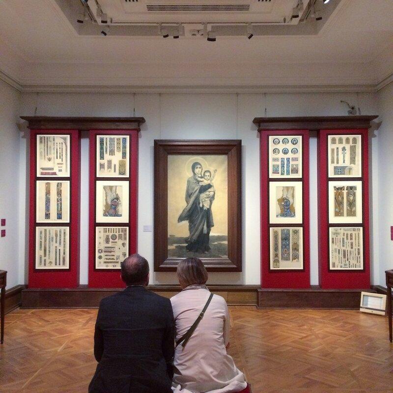 Выставка эскизов монументальных росписей весной 2017 года