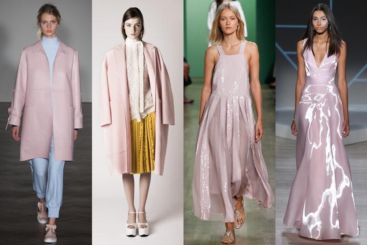 модные цвета весна лето 2016 - розовый кварц