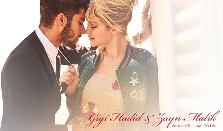 Джиджи Хадид / Gigi Hadid & Zayn Malik by Mario Testino in Vogue US may 2016