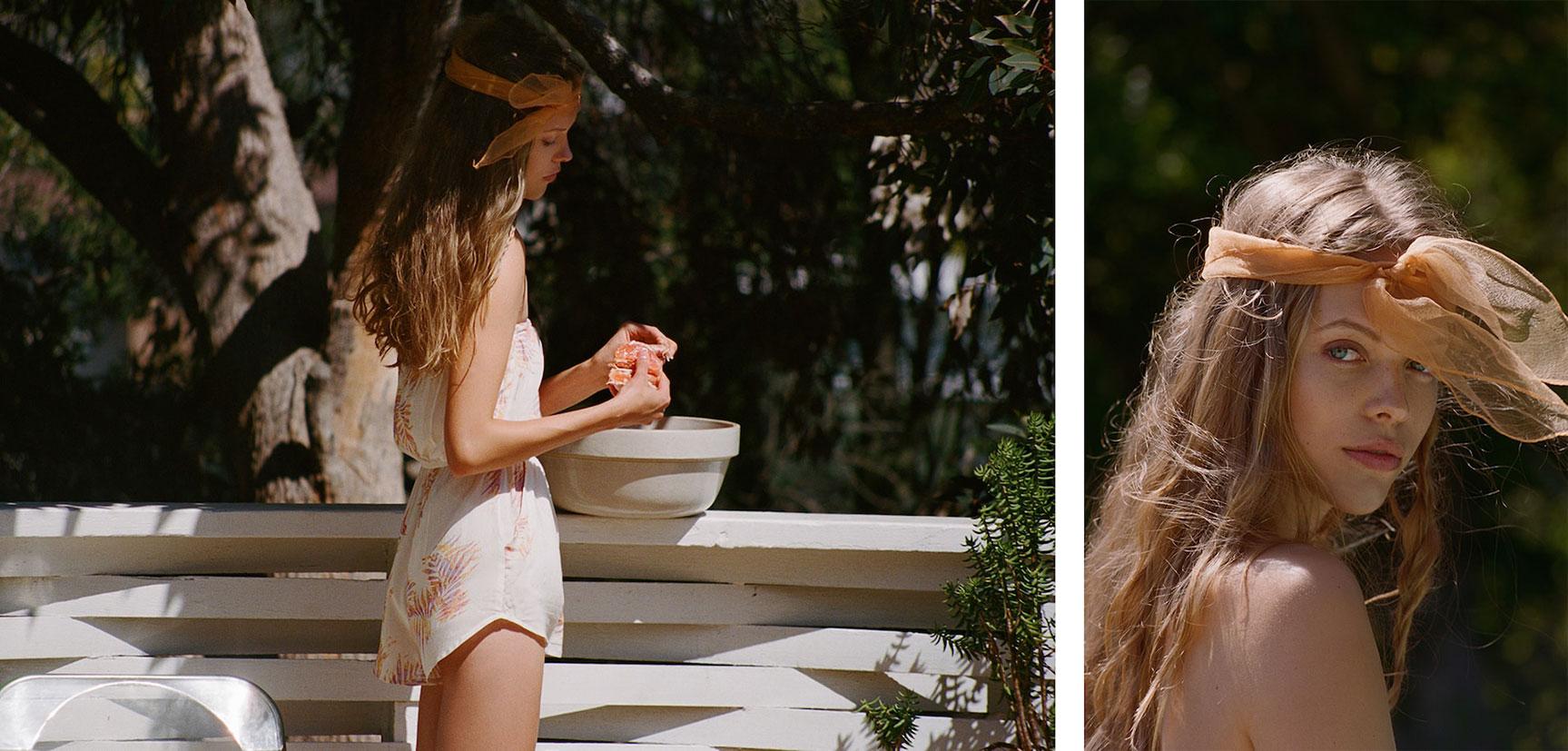 Mathilda Tolvanen / Матильда Толванен в одежде модного бренда Flynn Skye, весна 2016 / фотограф Henrik Purienne