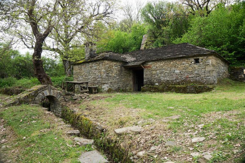 старинная мельница, Загория, Греция