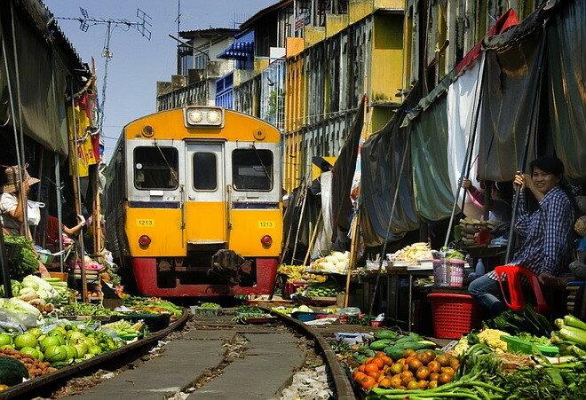 Рынок Меклонг. Таиланд
