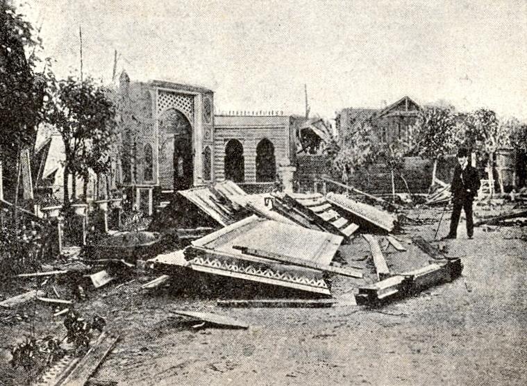 3002 Ураган 16 июня 1904 года Ресторан Золотой якорь в Сокольниках.jpg