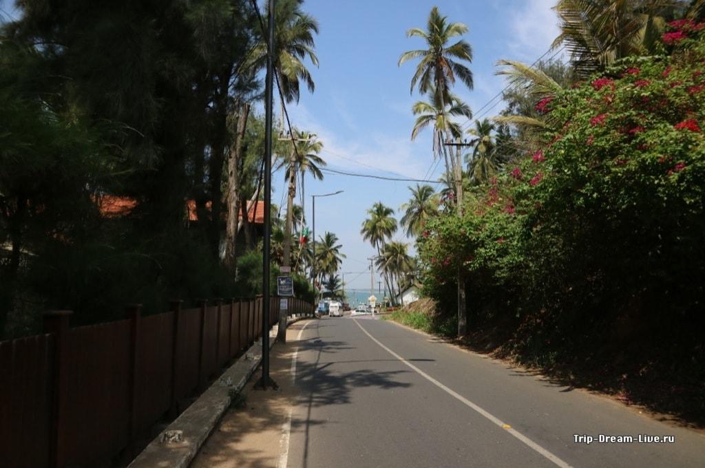 Дорога к пляжу Ашок