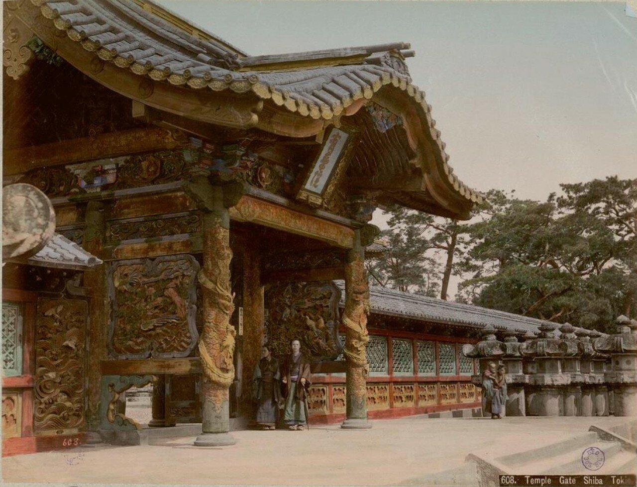 Токио. Парк Сиба. Ворота храма Дзодзё-дзи