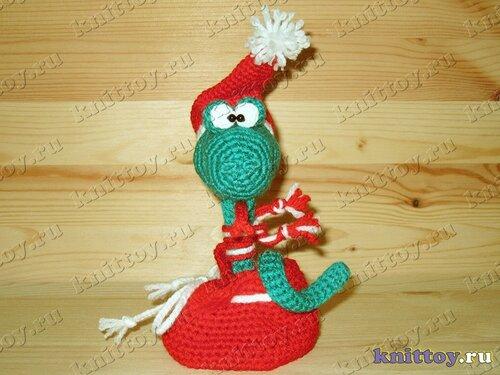 Вязаная змея Crazy Санта