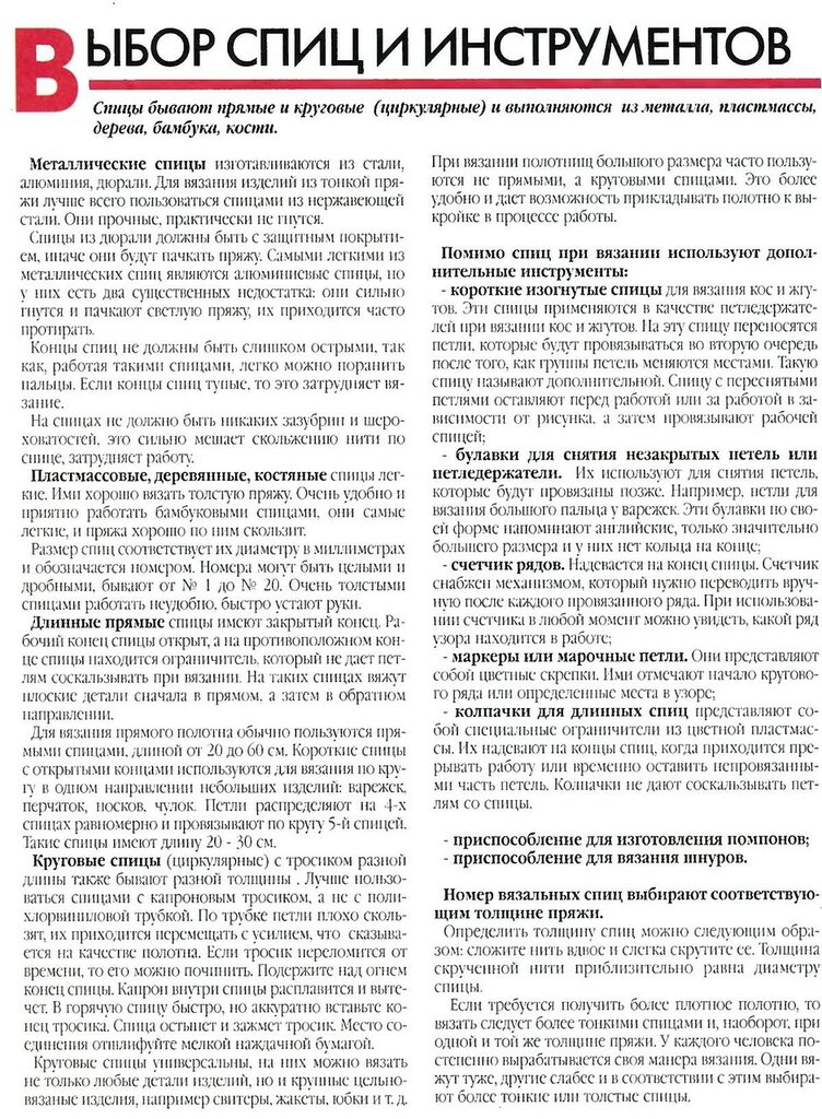 Энциклопедия вязания спиц