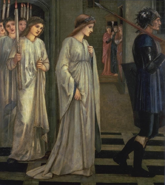 Принцессу Сабру ведут к дракону. Эдвард Берн-Джонс (Edward Burne-Jones)  (1833-1898) .jpg