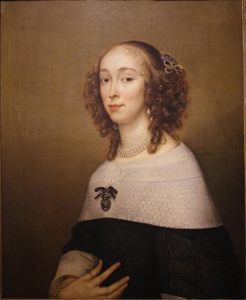 Женский портрет Адриан Ханнеман  автор  1653  холст, масло  78 х 62.jpg