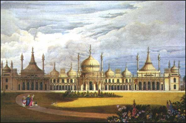 Королевский павильон в Брайтоне,  общий вид