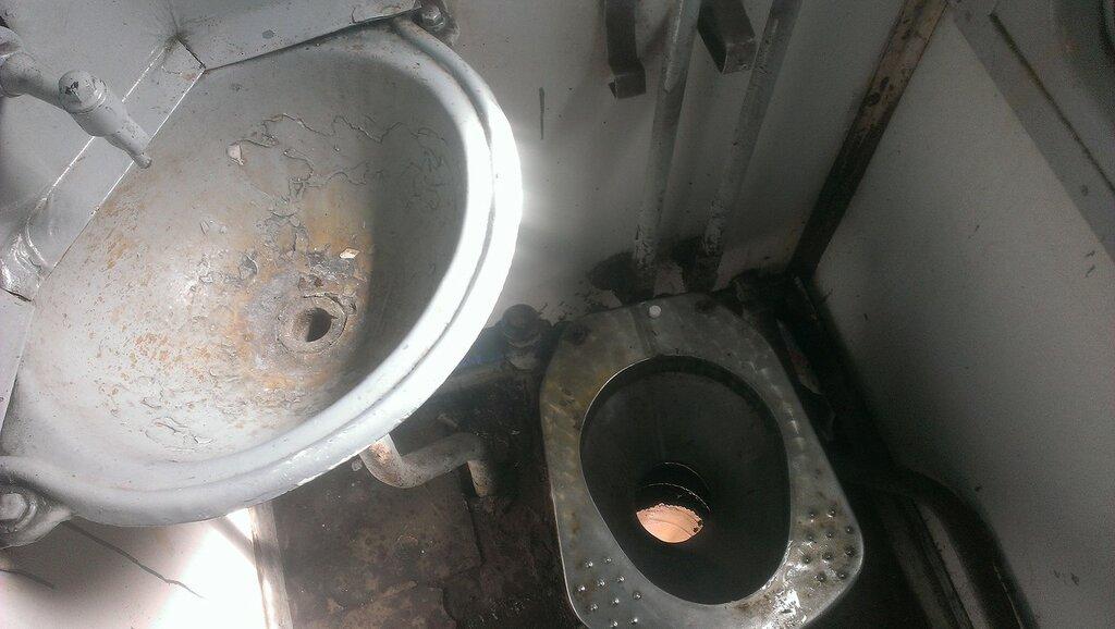 Туалет в электричке до Калуги