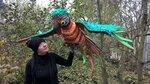 Попугай Ара Красно-зеленый. Текстиль.