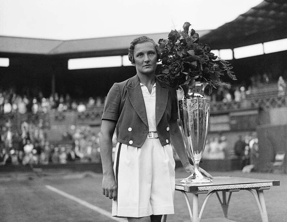 American tennis player Helen Jacobs 1934