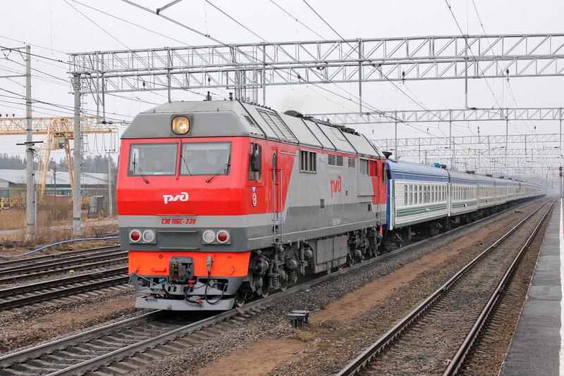 ТЭП70БС-239 с поездом 383 Питер-Ташкент