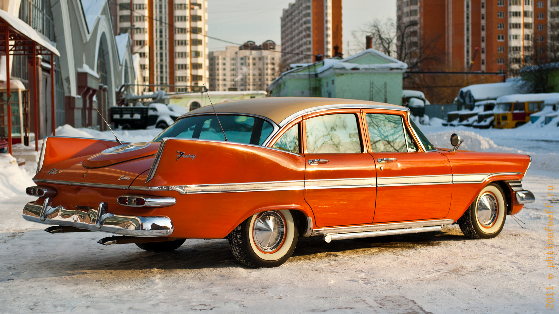 Plymouth Fury 1958 (Плимут Фурия) - авто, автомобиль, история, ретро автомобиль