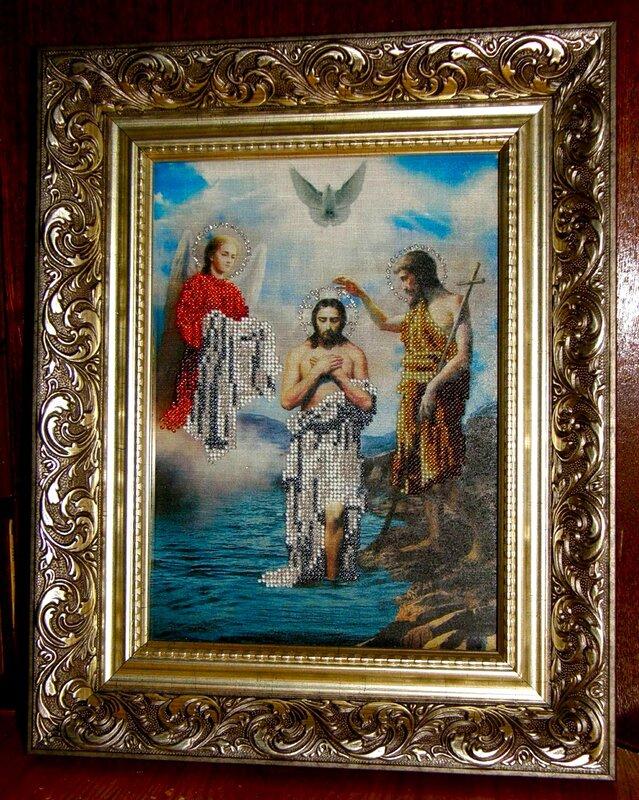Картины и панно ручной работы.  Ярмарка Мастеров - ручная работа Крещение Господне.  Handmade.