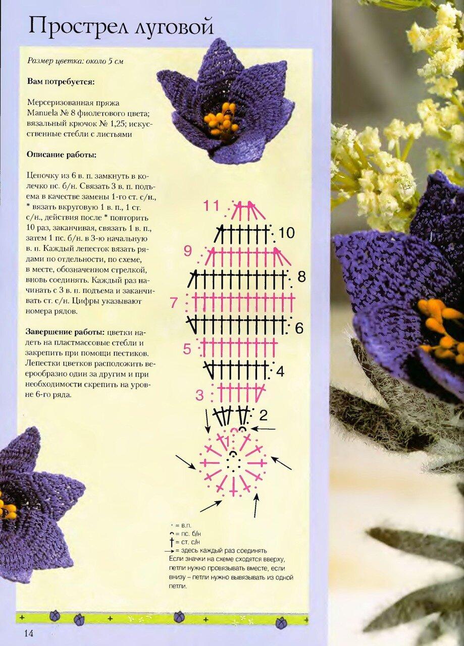Цветов крючком схемы и описание фото