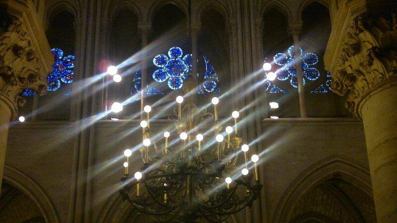 Витраж Notre Dame de Paris