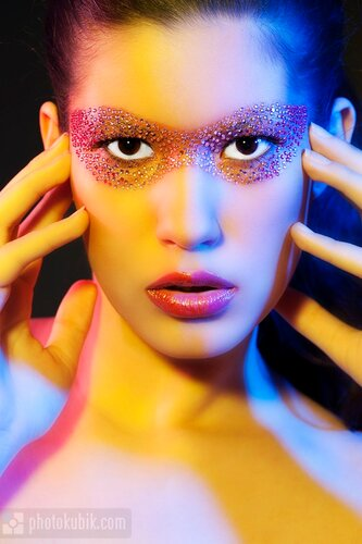 цвет фотомодель портрет  Три цвета