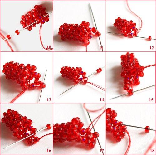 8 июн 2013 Мозаичное плетение из бисера.  Используется при изготовлении жгутов.  Схема плетения из бисера фенечки с...