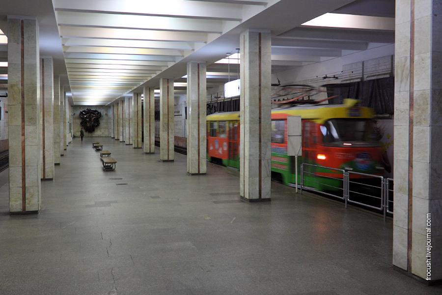 Волгоградский скоростной трамвай. Станция «Комсомольская».