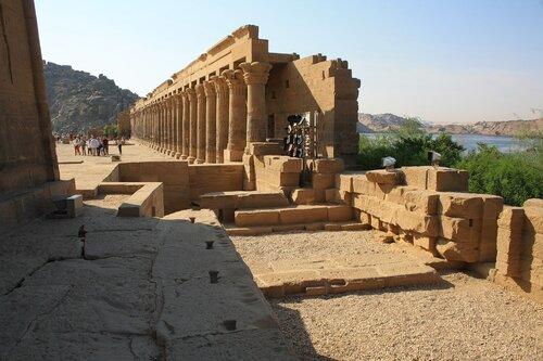 Tempel  PHILAE на острове Нила.