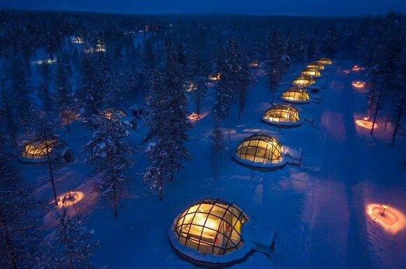 Hotel & Iglu Village Kakslauttanen. Финляндия