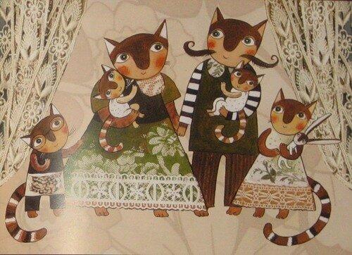 Иллюстрация из Разноцветных котов