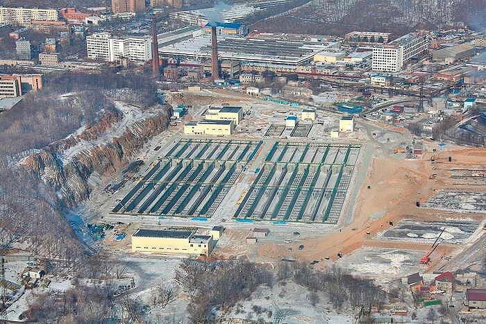 Новые очистные сооружения во Владивостоке