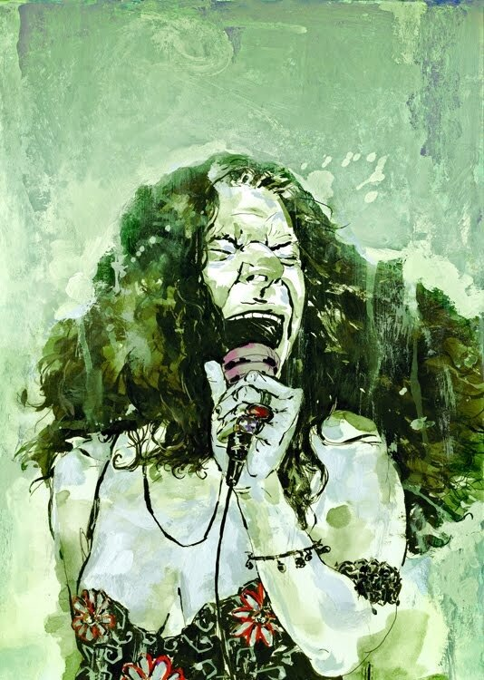 иллюстратор Rich Pellegrino.Janis Joplin