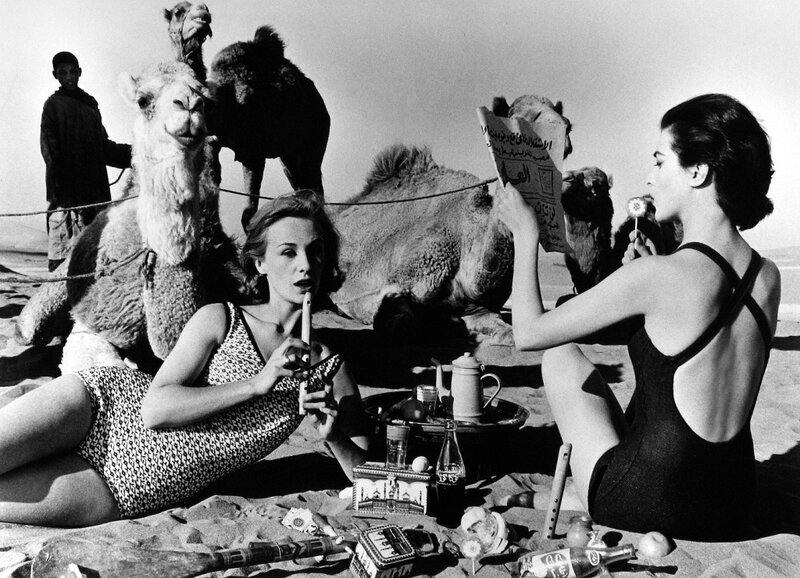 william-klein-tatiana-and-marie-rose-camels-picnic-morocco-1958.jpg