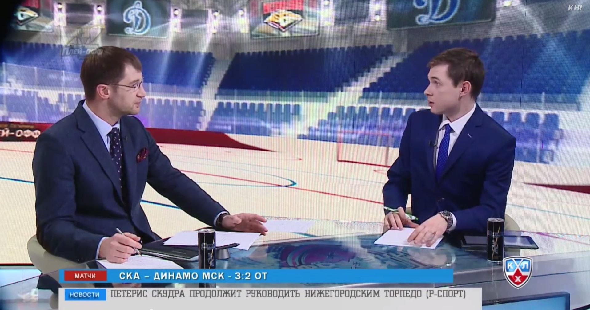 Бойков и Юртаев в эфире КХЛ ТВ