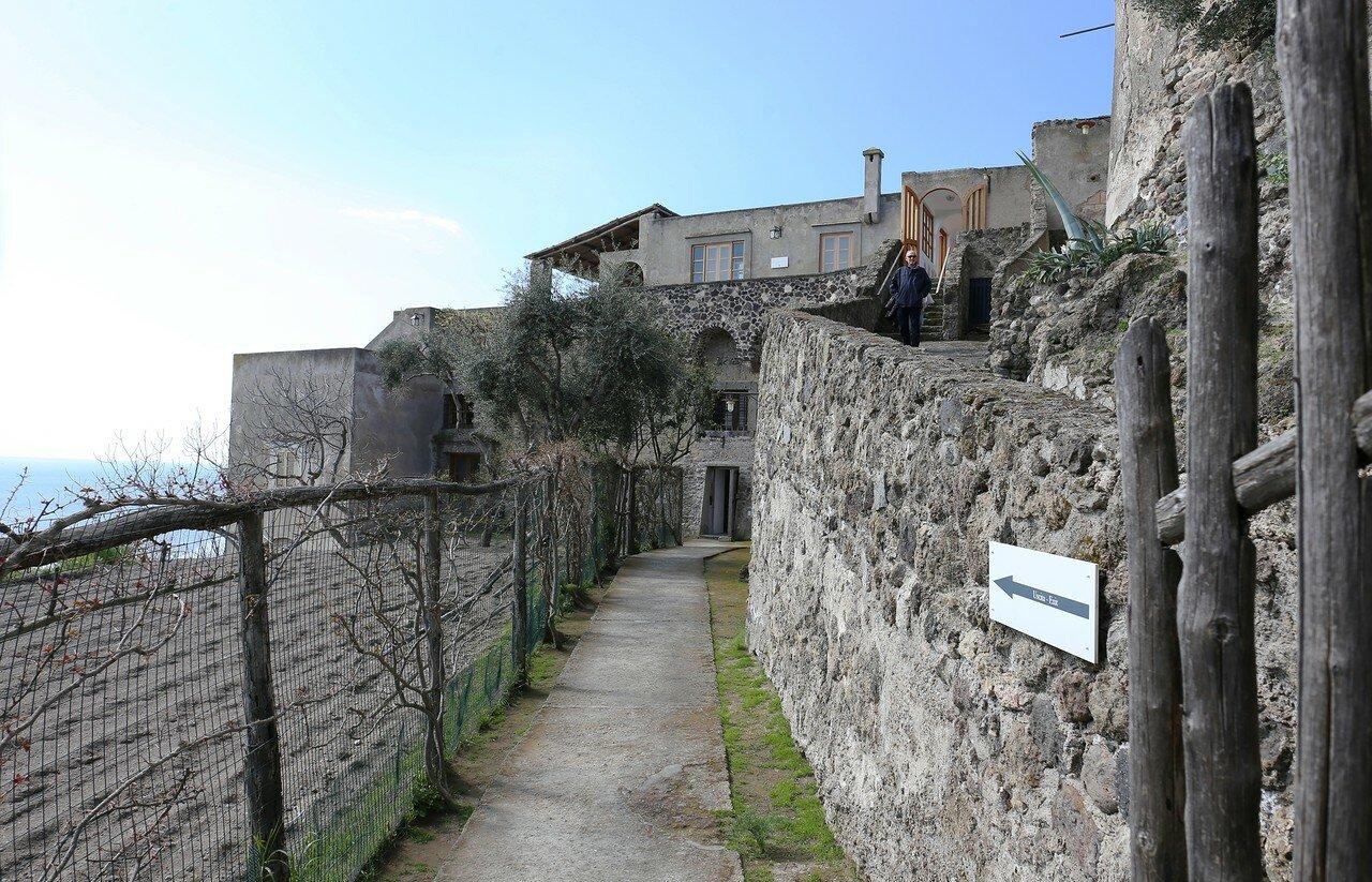 Ischia, the Aragonese castle. Restaurant Il Terrazzo