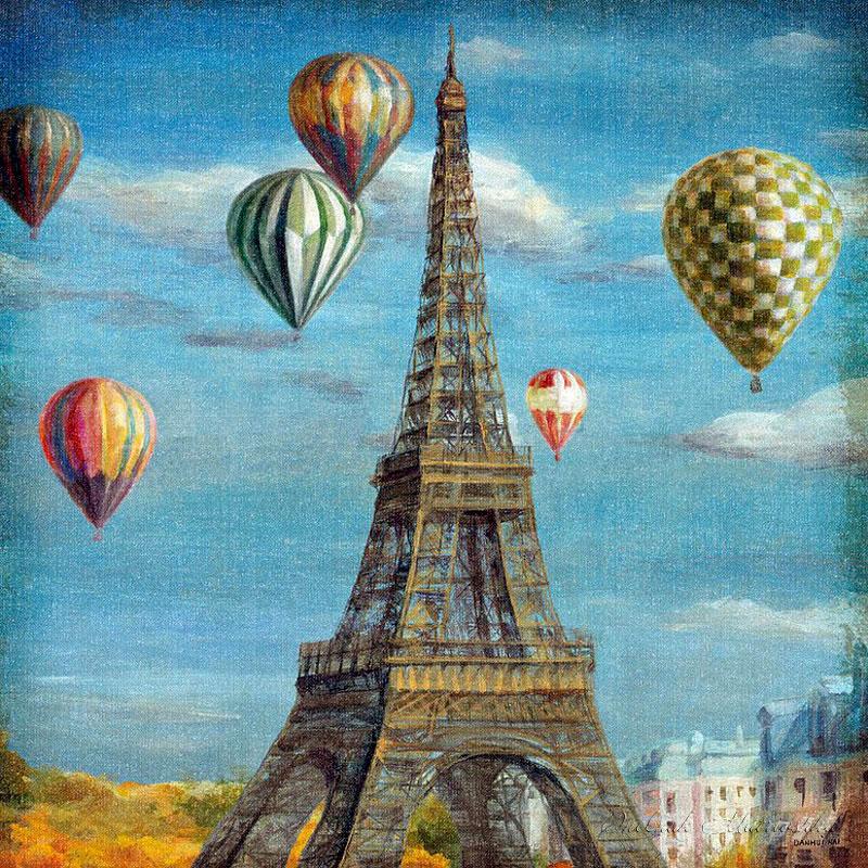 Под небом Парижа. Китайский художник Danhui Nai