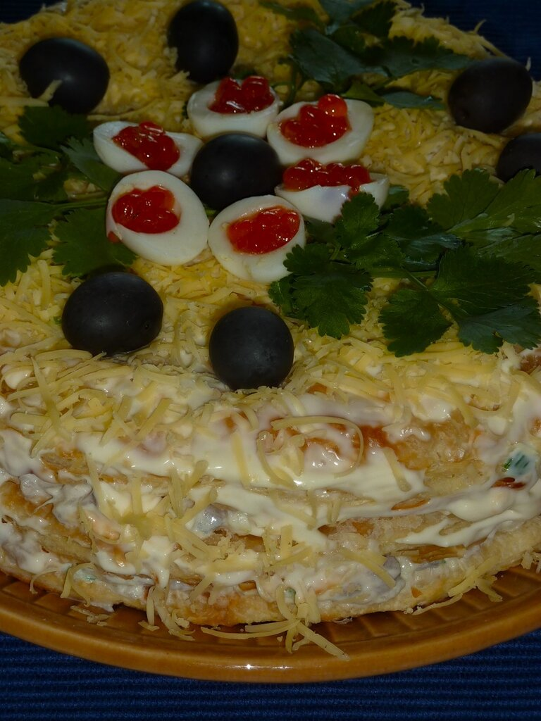 Закусочный селедочный торт. Приготовьте один раз, и вы будете готовить его на все праздники