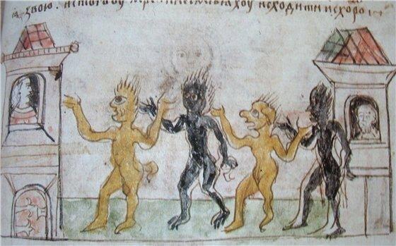 Чума, миниатюра Радзивилловой летописи
