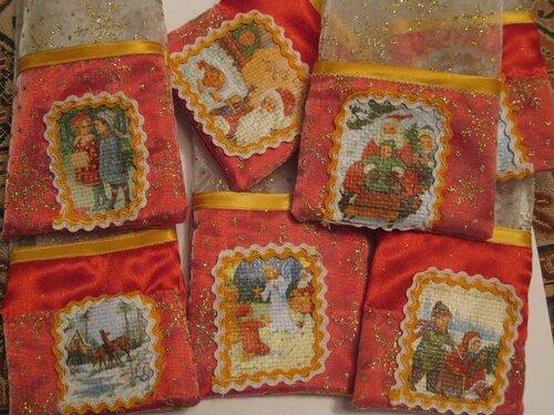 мешочки для подарков для календаря