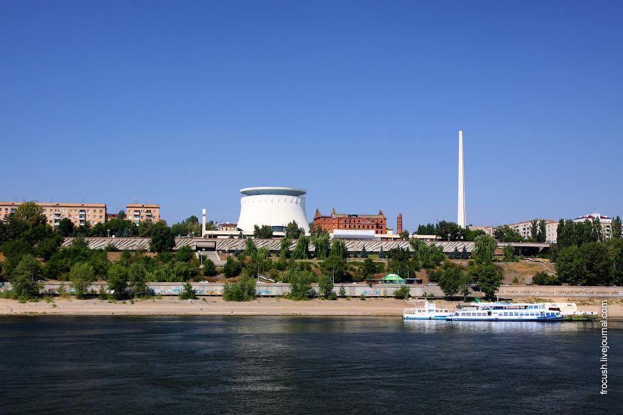 Музей-панорама «Сталинградская битва», вид с Волги