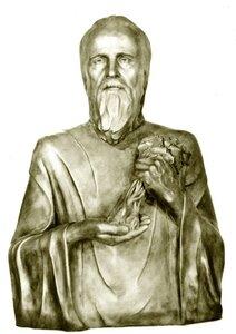 Прп.Агапит Печерский.Реконструкция по черепу С.А. Никитина (1986)