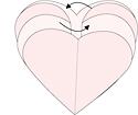 Envasado en forma de corazón