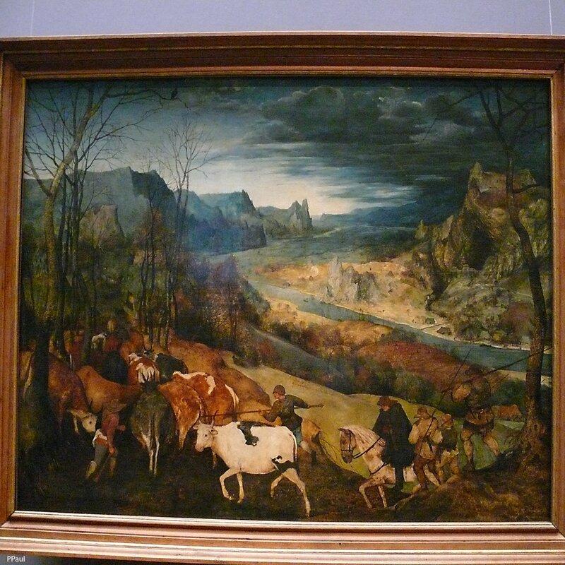 """Питер Брейгель """"Возвращение (осень)"""". 1565 г"""