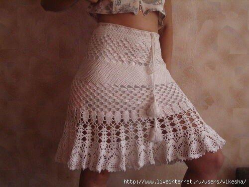 Вязание юбок на лето - схемы