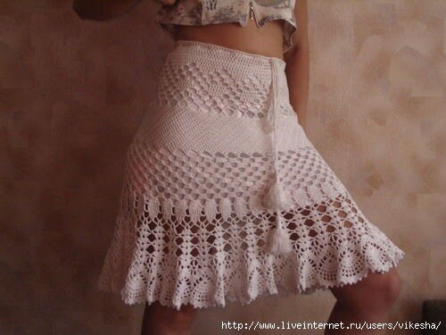 вязаные юбки схемы,
