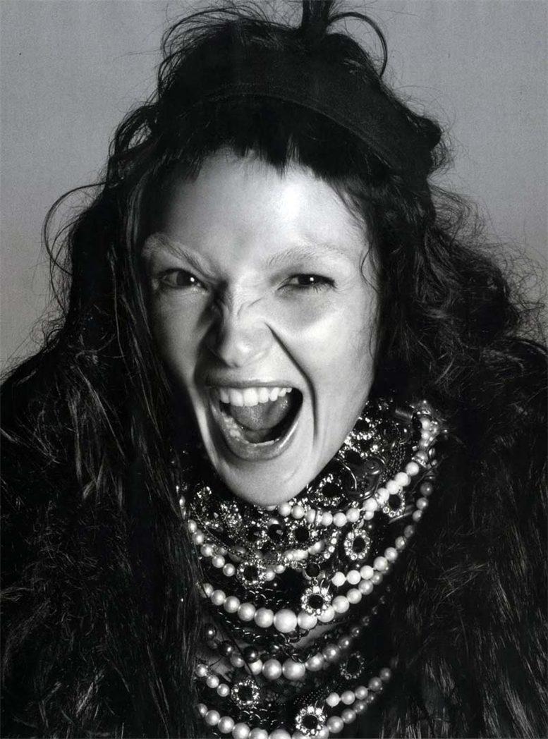 модель Мариакарла Босконо / Mariacarla Boscono, фотограф Steven Meisel