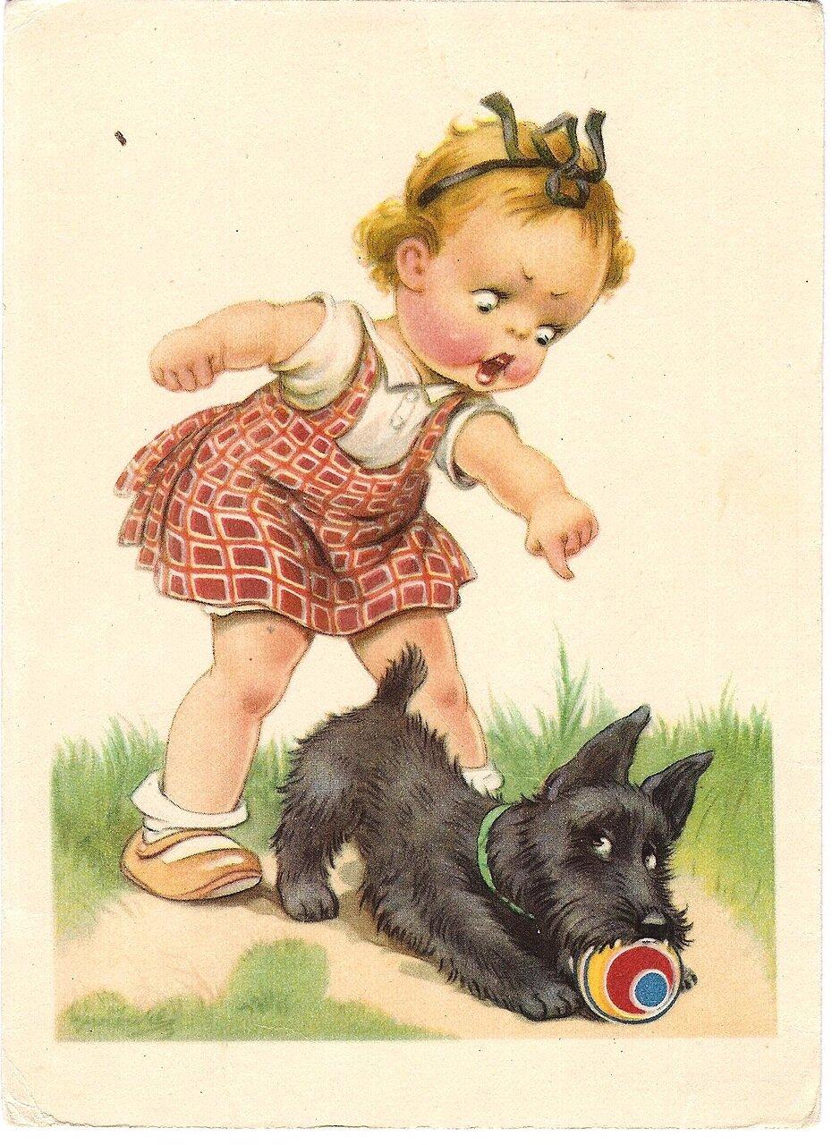Открытки немецкие с детьми